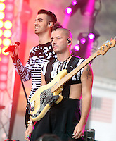 NEW YORK, NY-August 26:  Joe Jonas, Cole Whittle of DNCE performed NBC's Today Show Citi Concert Series at Rockefeller Center in New York. NY August 26, 2016. Credit:RW/MediaPunch