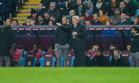 Aston Villa manager Steve Bruce and his assistant Colin Calderwood during the Sky Bet Championship match between Aston Villa and Cardiff City at Villa Park, Birmingham, England on 10 April 2018. Photo by Mark  Hawkins / PRiME Media Images.