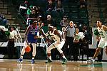 DENTON, TX - JANUARY 03: University of North Texas Mean Green Men's Basketball v Louisiana Tech Bulldogs at Super Pit - North Texas Coliseum in Denton on January 3, 2019 in Denton, Texas. Photo Rick Yeatts