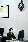Baku - Azerbaijan - 08 December 2014 -- Azerbaijan State Marine Academy. -- Kerimli Ragib (19) working on a test after lessons on navigation. -- PHOTO: Sitara Ibrahimova / EUP-IMAGES