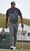 Tiger Woods walks on the green of the 17th Hole during the first round of the U.S. Open Championship at Shinnecock Hills Golf Club in Southampton on Thursday, June 14, 2018.
