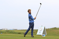James Newton (ENG) on the 1st tee during Round 1of the Flogas Irish Amateur Open Championship 2019 at the Co.Sligo Golf Club, Rosses Point, Sligo, Ireland. 16/05/19<br /> <br /> Picture: Thos Caffrey / Golffile<br /> <br /> All photos usage must carry mandatory copyright credit (© Golffile | Thos Caffrey)