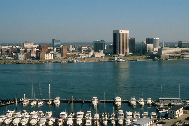 UNDATED..Redevelopment.Downtown South (R-9)..WATERFRONT VIEW.FROM PORTSMOUTH...NEG#.NRHA#..