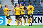 Stockholm 2014-07-07 Fotboll Allsvenskan Djurg&aring;rdens IF - IF Elfsborg :  <br /> Elfsborgs Viktor Claesson har gjort 1-0 och jublar med lagkamrater<br /> (Foto: Kenta J&ouml;nsson) Nyckelord:  Djurg&aring;rden DIF Tele2 Arena Elfsborg IFE jubel gl&auml;dje lycka glad happy
