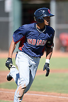 Cleveland Indians shortstop Erik Gonzalez (7) during an instructional league game against the Cincinnati Reds on September 28, 2013 at Goodyear Training Complex in Goodyear, Arizona.  (Mike Janes/Four Seam Images)