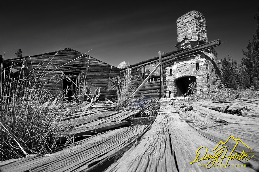 Derelict buildings, Bar B C Ranch, Grand Teton Park