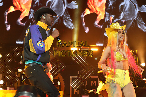 NEW YORK, NY - JUNE 2, 2019 Cardi B. & LiL Nas X  perform at Summer Jam at Met Life Stadium, June 2, 2019 in East Rutherford, NJ. <br /> CAP/MPIWG<br /> ©WG/MPI/Capital Pictures