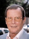 Roger Moore attending The N.A.T.P.E. TV Convention, New Orleans on January 25, 1999.