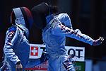 Sera Azuma (JPN), <br /> AUGUST 23, 2018 - Fencing : Women's Team Foil Seni-final at Jakarta Convention Center Cendrawasih during the 2018 Jakarta Palembang Asian Games in Jakarta, Indonesia. <br /> (Photo by MATSUO.K/AFLO SPORT)