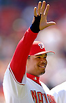 11 April 2006: Daryle Ward, first baseman for the Washington Nationals, waves to the fans prior to the Nationals' Home Opener against the New York Mets in Washington, DC. The Mets defeated the Nationals 7-1 to start the 2006 season at RFK Stadium...Mandatory Photo Credit: Ed Wolfstein Photo..