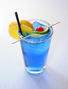 A blue lengua (also known as a blue tongue), a drink served at the BelAir Cantina in Milwaukee. Ernie Mastroianni photo