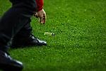 11.03.2018, Signal Iduna Park, Dortmund, GER, 1.FBL, Borussia Dortmund vs Eintracht Frankfurt, <br /> <br /> im Bild | picture shows:<br /> G&auml;stefans der Eintracht bewerfen Marco Reus (Borussia Dortmund #11) mit Feuerzeugen, die von Ordnern eingesammelt werden,  <br /> <br /> <br /> Foto &copy; nordphoto / Rauch
