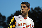 12 October 2012: Maryland's John Stertzer. The University of Maryland Terrapins defeated the Duke University Blue Devils 2-1 at Koskinen Stadium in Durham, North Carolina in a 2012 NCAA Division I Men's Soccer game.