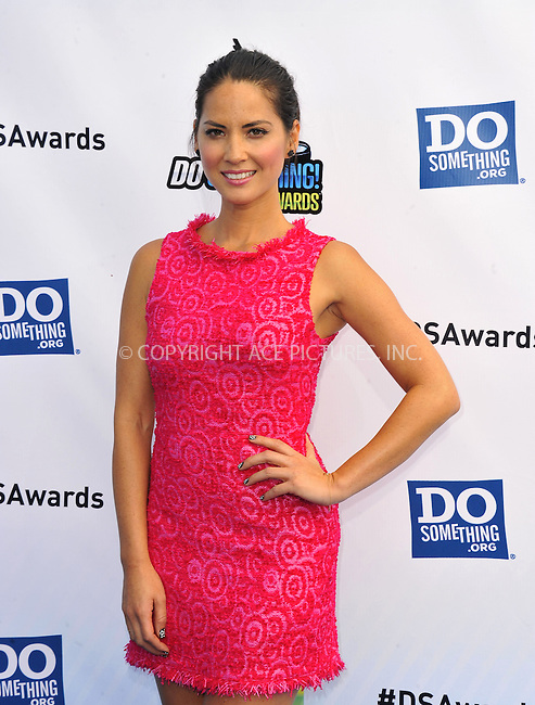 WWW.ACEPIXS.COM....August 19,2012, Santa Monica, CA.....Olivia Munn arriving at the 2012 Do Something Awards at Barker Hangar on August 19, 2012 in Santa Monica, California.........By Line: Peter West/ACE Pictures....ACE Pictures, Inc..Tel: 646 769 0430..Email: info@acepixs.com