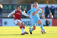 Danielle van de Donk of Arsenal and Kasia Lipka of Sunderland during Arsenal Women vs Sunderland AFC Ladies, FA Women's Super League FA WSL1 Football at Meadow Park on 12th November 2017