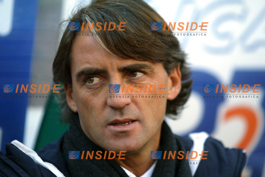 Roma 11/1/2004 <br /> Lazio Brescia 0-1 <br /> Roberto Mancini allenatore della Lazio<br /> Roberto Mancini Lazio trainer<br /> Photo Andrea Staccioli Insidefoto
