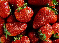 Primo piano, fragole<br /> Close up, strawberries
