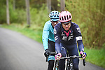 Tanel Kangert (EST) EF Education First and Omar Fraile (ESP) Astana Pro Team attack on Col du Rosier during 105th edition of Li&egrave;ge-Bastogne-Li&egrave;ge 2019, La Doyenne, running 256km from Liege to Liege, Belgium. 28th April 2019<br /> Picture: ASO/Gautier Demouveaux | Cyclefile<br /> All photos usage must carry mandatory copyright credit (&copy; Cyclefile | ASO/Gautier Demouveaux)