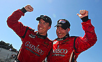 May 17, 2009: Alex Gurney. left, and Jon Fogarty celebrate their win after the Verizon Festival of Speed Grand-Am Rolex Series race at Mazda Raceway at Laguna Seca  in Salinas, CA. (Photo by Brian Cleary/www.bcpix.com)