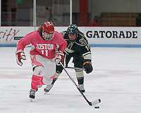 Boston, Massachusetts - January 25, 2015: NCAA Division I. Boston University defeated University of Vermont, 9-2, at Walter Brown Arena.