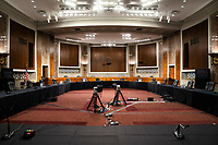 The room in the Dirksen Senate Office Building where former deputy attorney general Rod Rosenstein will testify before a Republican-led Senate Judiciary Committee hearing on ÎCrossfire Hurricane,Ì the FBI's probe into Russian election interference and the 2016 Trump campaign in Washington, DC, USA, 03 June 2020.<br /> Credit: Jim LoScalzo / Pool via CNP/AdMedia