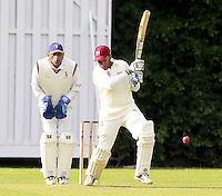 Johan De Silva bats for Highgate during the ECB Middlesex Division Three game between Highgate and Harrow Town at Park Road, Crouch End on Saturday May 24, 2014