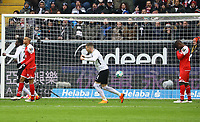 Danny da Costa (Eintracht Frankfurt), Ante Rebic (Eintracht Frankfurt) jubeln beim 1:0, Jean-Philippe Gbamin (1. FSV Mainz 05) frustriert - 17.03.2018: Eintracht Frankfurt vs. 1. FSV Mainz 05, Commerzbank Arena