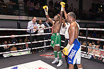 Tunji Ogunniya vs Jordan Grannum 4x3 - Super Welterweight Contest During Goodwin Boxing - Date With Destiny. Photo by: Simon Downing.<br /> <br /> Saturday September 23rd 2017 - York Hall, Bethnal Green, London, United Kingdom.