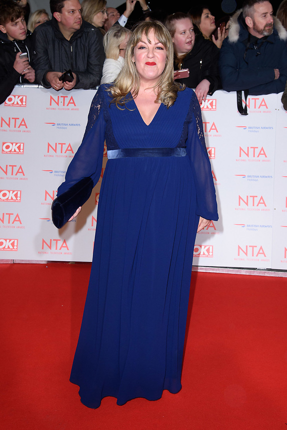 Lorraine Stanley<br /> arriving for the National Television Awards 2018 at the O2 Arena, Greenwich, London<br /> <br /> <br /> ©Ash Knotek  D3371  23/01/2018