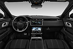 Stock photo of straight dashboard view of a 2018 Land Rover Range Rover Velar R-Dynamic SE 5 Door SUV