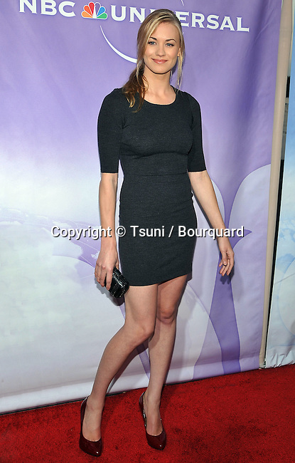 Yvonne Strahovski<br /> NBC-UNIversal_ tca party at the Beverly Hiton Hotel in Los Angeles.