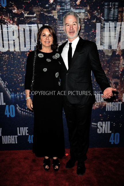 WWW.ACEPIXS.COM<br /> February 15, 2015 New York City<br /> <br /> Patty Smyth  and John McEnroe walking the red carpet at the SNL 40th Anniversary Special at 30 Rockefeller Plaza on February 15, 2015 in New York City.<br /> <br /> Please byline: Kristin Callahan/AcePictures<br /> <br /> ACEPIXS.COM<br /> <br /> Tel: (646) 769 0430<br /> e-mail: info@acepixs.com<br /> web: http://www.acepixs.com