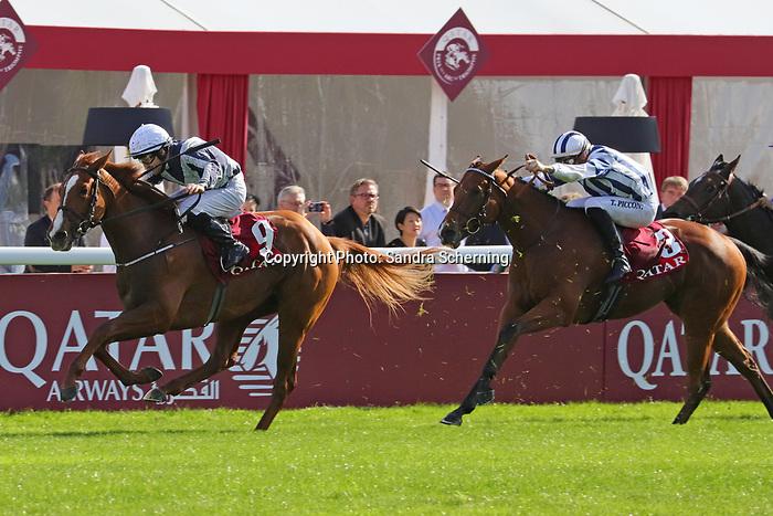 October 06, 2019, Paris (France) - Albinga (9) with Shane Foley up wins the Qatar Prix Marcel Boussac (Gr I) on October 6 in ParisLongchamp. [Copyright (c) Sandra Scherning/Eclipse Sportswire)]