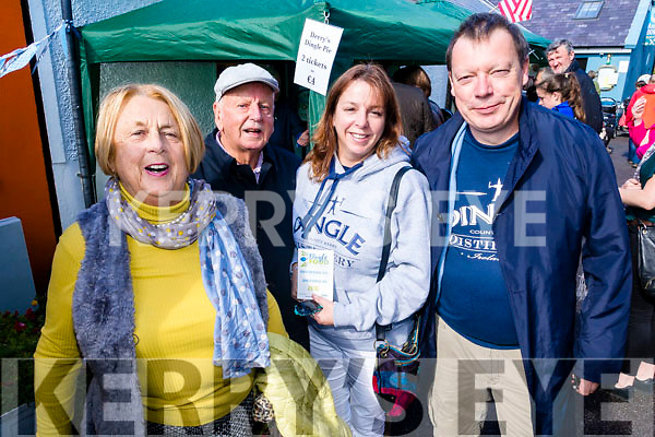 Attending Dingle Food Festival on Saturday last were l-r: Kathleen, George and Nora Rice with Maurice Collins.