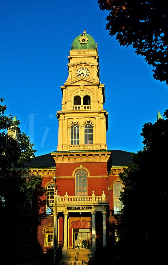 Massachusetts, Gloucester; City Hall At Sunset