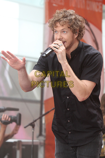 NEW YORK, NY - JUNE 26: Dan Reynolds of Imagine Dragons perform at NBC's Today Show Toyota Concert Series at Rockefeller Center Plaza in New York City on June 26, 2015. <br /> CAP/MPI/RW<br /> &copy;RW/MPI/Capital Pictures