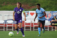 Piscataway, NJ - Wednesday Sept. 07, 2016: Alex Morgan, Maya Hayes during a regular season National Women's Soccer League (NWSL) match between Sky Blue FC and the Orlando Pride FC at Yurcak Field.