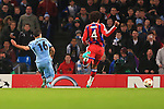 Sergio Aguero of Manchester City scores to equalise at 2-2 - Manchester City vs. Bayern Munich - UEFA Champion's League - Etihad Stadium - Manchester - 25/11/2014 Pic Philip Oldham/Sportimage