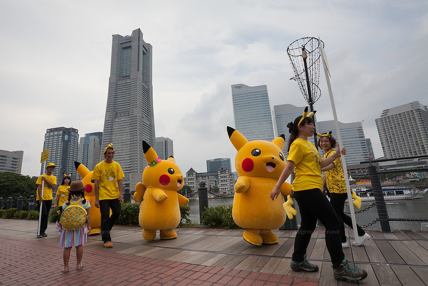 A Pikachu parade during the third annual Pikachu Outbreak event in Yokohama, Kanagawa, Japan. Wednesday August 10th 2016. The event is hosted by the Pokemon Company. Over 1,000 Pikachu characters are set to appear in week of events from 7th to 14th of August..