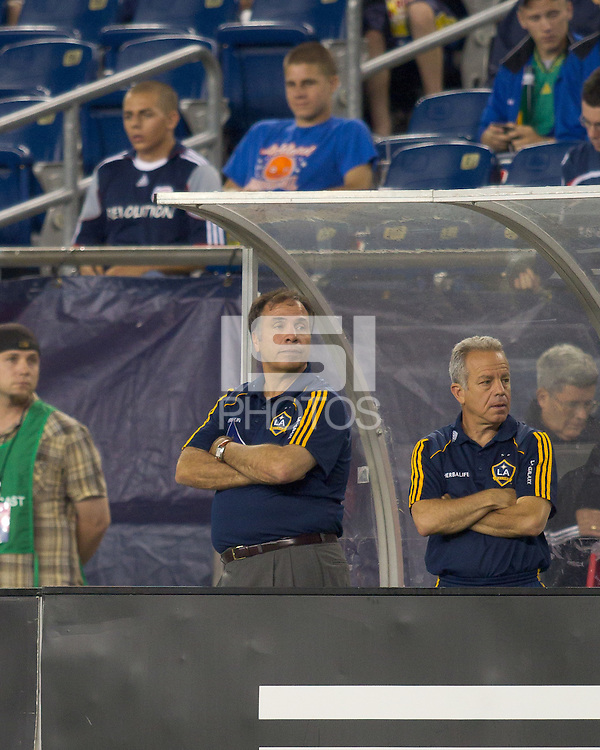 LA Galaxy coach Bruce Arena. The New England Revolution defeated LA Galaxy, 2-0, at Gillette Stadium on July 10, 2010.