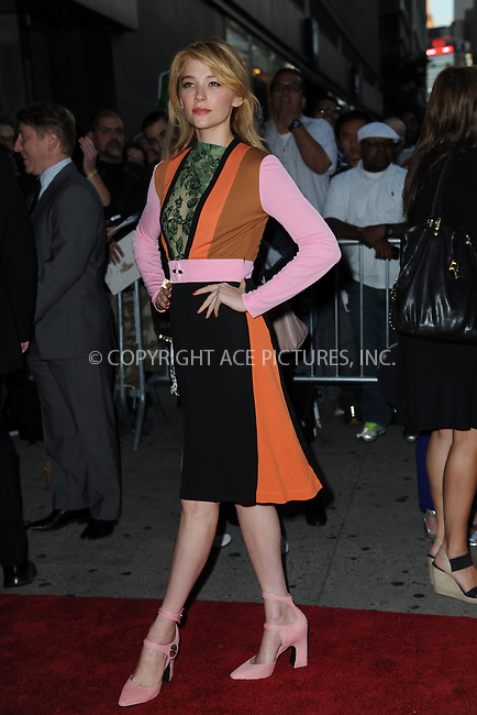 WWW.ACEPIXS.COM<br /> September 22, 2014 New York City<br /> <br /> Haley Bennett attending 'The Equalizer' New York Screening at AMC Lincoln Square Theater on September 22, 2014 in New York City.<br /> <br /> By Line: Kristin Callahan/ACE Pictures<br /> ACE Pictures, Inc.<br /> tel: 646 769 0430<br /> Email: info@acepixs.com<br /> www.acepixs.com