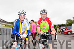 Enjoying the Castleisland Day Care Centre Charity Cycle conjunction with Currow Cycling Club on Sunday were l-r  Liam Gowan and Finn Clifford