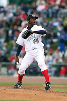 June 17th 2008:  Alfredo Figaro of the West Michigan Whitecaps, Class-A affiliate of the Detroit Tigers, during the Midwest League All-Star Game at Dow Diamond in Midland, MI.  Photo by:  Mike Janes/Four Seam Images