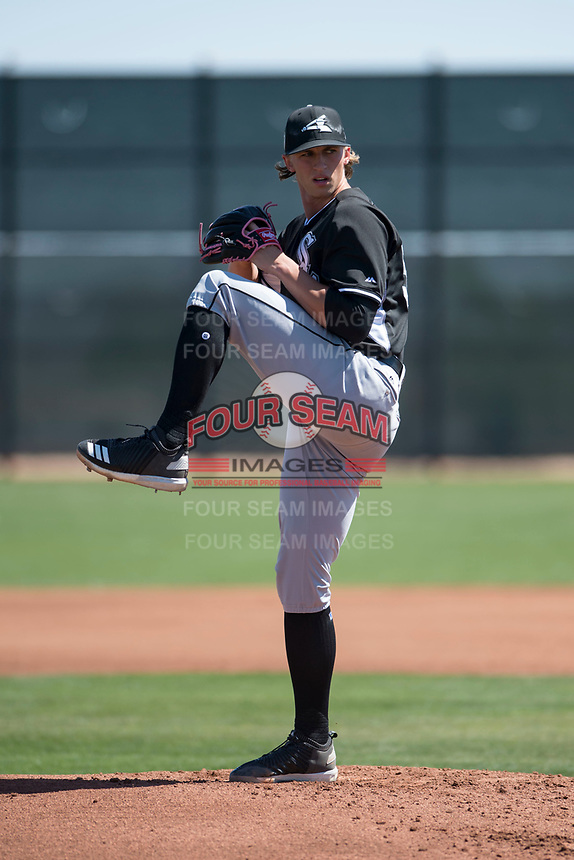 Chicago White Sox starting pitcher Michael Kopech (50) during a Minor League Spring Training game against the Cincinnati Reds at the Cincinnati Reds Training Complex on March 28, 2018 in Goodyear, Arizona. (Zachary Lucy/Four Seam Images)