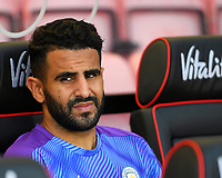 Riyad Mahrez of Manchester City started on the bench during AFC Bournemouth vs Manchester City, Premier League Football at the Vitality Stadium on 25th August 2019