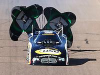 Feb 27, 2016; Chandler, AZ, USA; NHRA funny car driver John Hale during qualifying for the Carquest Nationals at Wild Horse Pass Motorsports Park. Mandatory Credit: Mark J. Rebilas-