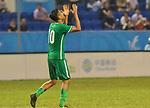 05.09.2017, Stadion, Tianjin, CN. 13. Nationalen Chinesischen Fussballspielen, Zhejiang vs Hubei, im Bild , <br /> <br /> <br /> im Bild Yuning Zhang (Werder Bremen #19) im Halbfinale im grünen Trikot - wie bei seinem Werder Bremen mit der Rueckennummer 10 Jubel Zhang  <br /> <br /> Foto © nordphoto / Oscar <br /> ++++ Attention ++++ ALL RIGHTS RESERVED Kein -Facebook -Twitter -Instagram -Social Media Web, keine online Galerie Pauschale,  Honorar und Belegexemplar Star People