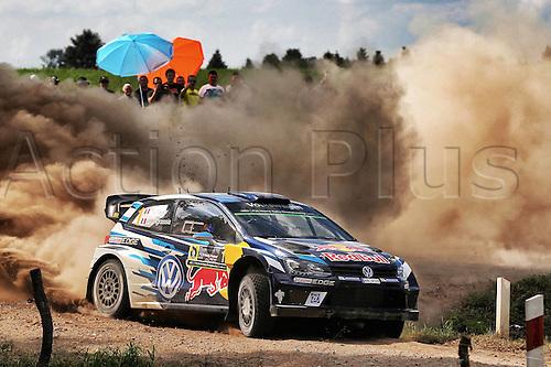 02.07.2016. Mikolajki, Poland. WRC Rally of Poland, stages 12-17.  Sebastien Ogier (FR) and Julien Ingrassia (FR) - Volkswagen Polo WRC