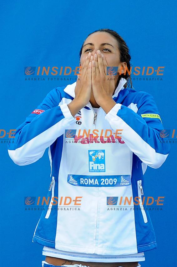 Roma 1st August 2009 - 13th Fina World Championships .From 17th to 2nd August 2009.Women's 800 m Freestyle.Alessia FILIPPI (ITA) medaglia di bronzo - Bronze medal.Roma2009.com/InsideFoto/SeaSee.com . .Foto Andrea Staccioli Insidefoto