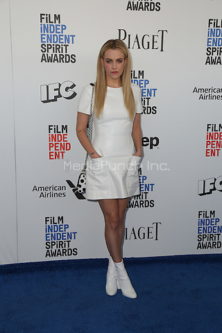 SANTA MONICA, CA - FEBRUARY 25: Riley Keough attends the 2017 Film Independent Spirit Awards at Santa Monica Pier on February 25, 2017 in Santa Monica, California.  (Credit: Parisa Afsahi/MediaPunch).